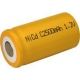 NiCD battery C 2500 mAh flat head - 1,2V - Evergreen