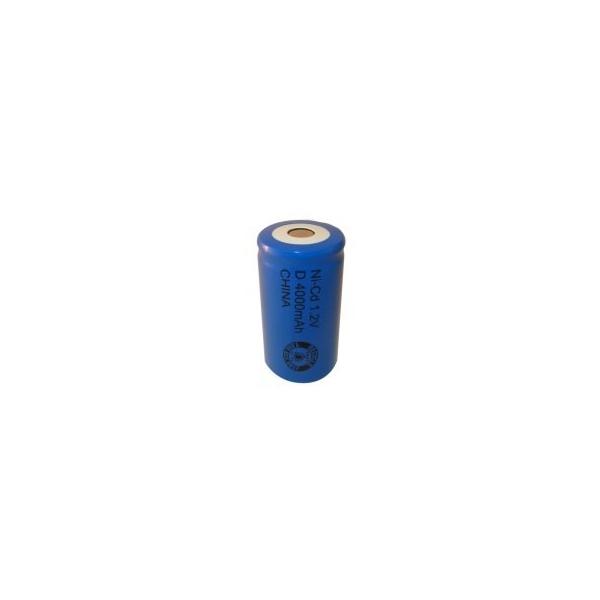 NiCD battery D 4000 mAh flat head - 1,2V - Evergreen