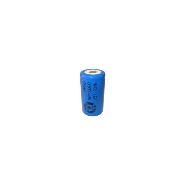 NiCD battery D 5000 mAh flat head - 1,2V - Evergreen