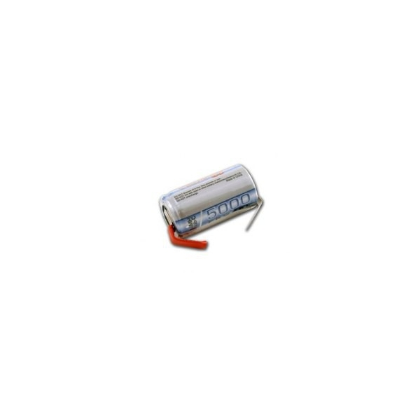 NiMH battery Sub C 5000 mAh with tabs - 1,2V - Tenergy