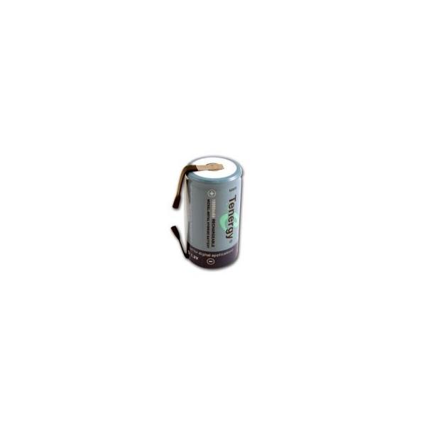 NiMH battery D 10000 mAh flat head with tabs - 1,2V - Tenergy