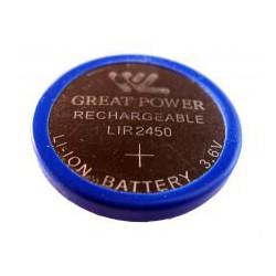 Button cell battery Li-Ion LIR 2450 - 3,6V