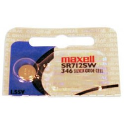 Button cell battery SR712 / 346 - 1,55V - silver oxyde - Maxell