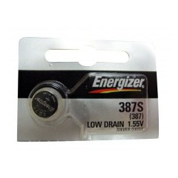 Energizer Battery 387S / 387 1.55V Low Drain Silver Oxide