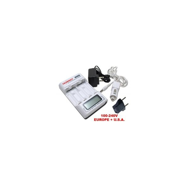 Tenergy TN156 4-Bay AA/AAA NiMH LCD Battery Charger