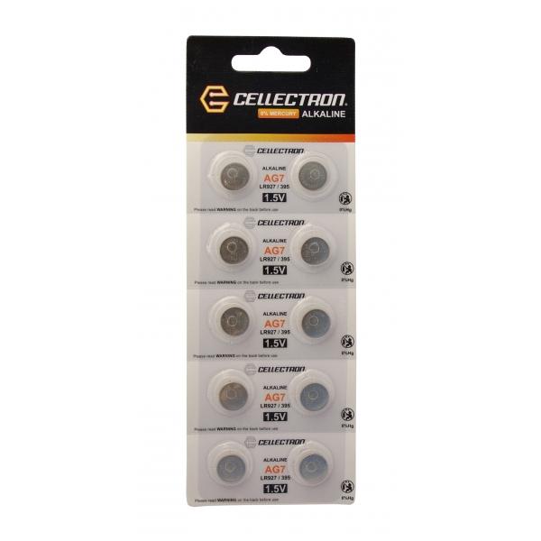 AG7 10 button cell battery AG7 / LR927 / 395 1,5V Cellectron
