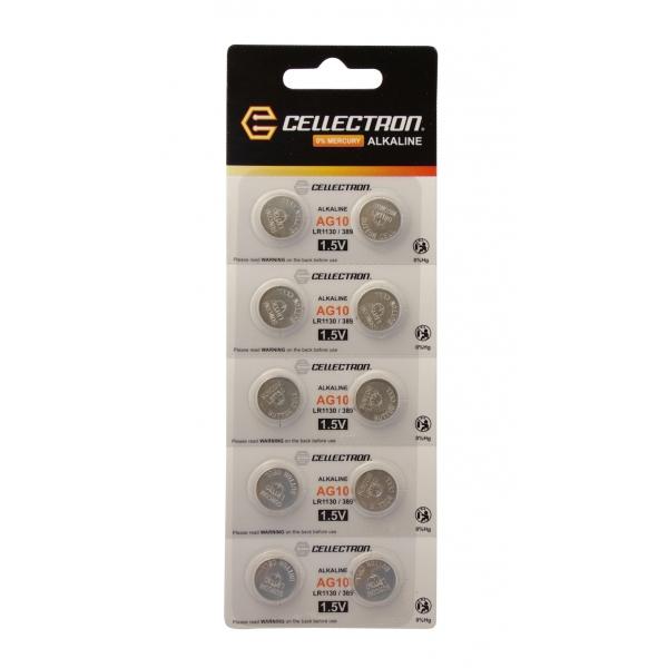 AG10 10 button cell battery AG10 / LR1130 / 389 1,5V Cellectron
