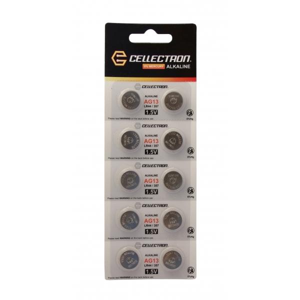 AG13 10 button cell battery AG13 / LR44 / 357 1,5V Cellectron