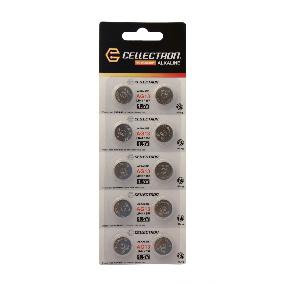 ag13 10 button cell battery ag13 lr44 357 1 5v cellectron. Black Bedroom Furniture Sets. Home Design Ideas