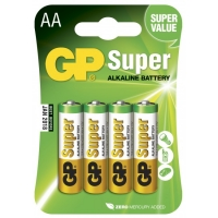 Alkaline battery 4 x AA / LR6 - 1,5V - GP Battery