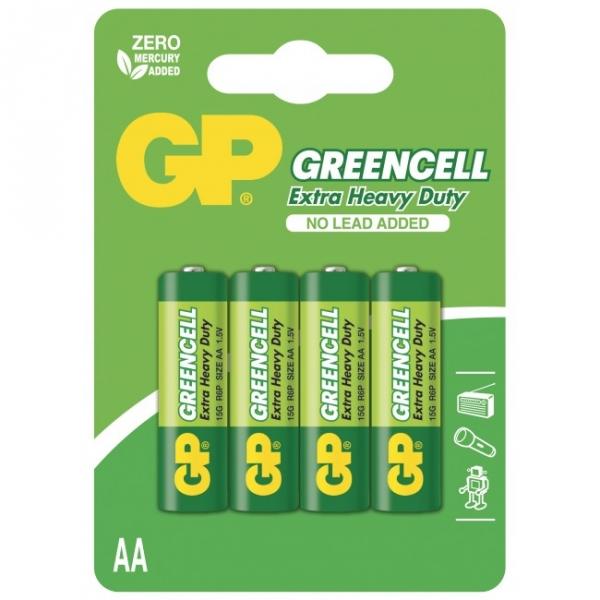 Extra heavy duty battery 4 X AA / R6 - 1,5V GREENCELL