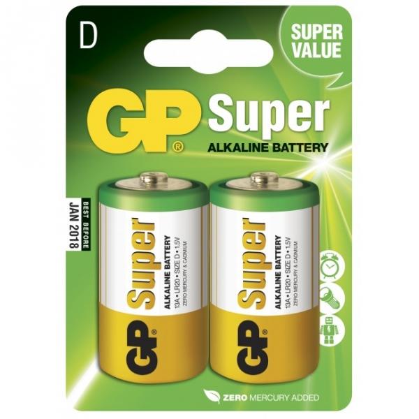 Alkaline battery 2 x D / LR20 - 1,5V - GP Battery