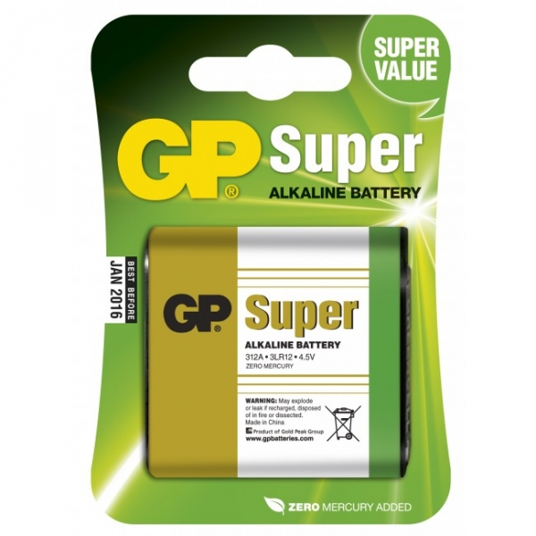 Alkaline battery 1 x 3lr12 4 5v super gp battery - Pile plate 4 5v ...