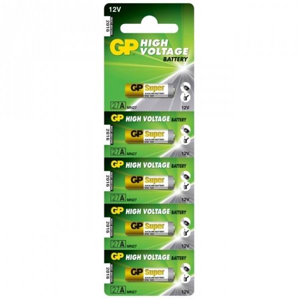 Alkaline battery 5 x 27A / MN27 - 12V - GP Battery