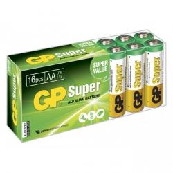 Alkaline battery 16 x AA / LR6 SUPER - 1,5V - GP Battery