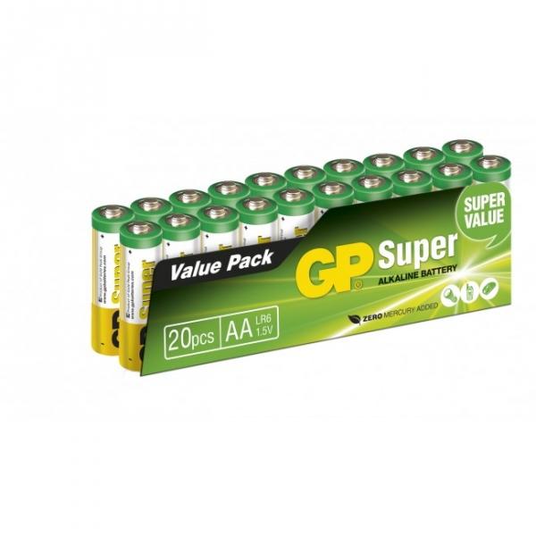 Alkaline battery 20 x AA / LR6 SUPER - 1,5V - GP Battery