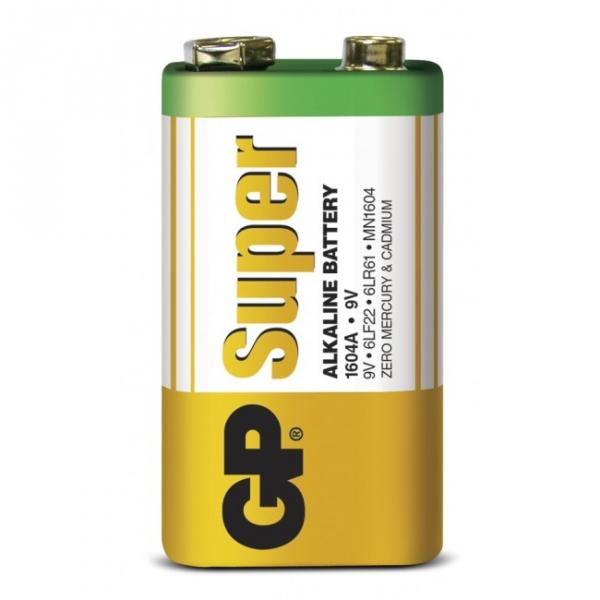 Alkaline battery 1 x 9V / 6LF22 SUPER - 9V - GP Battery
