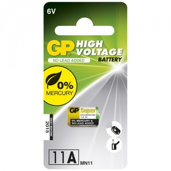 Alkaline battery 1 x 11A / MN11 - 6V - GP Battery