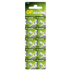 Alkaline button cell battery 10 x GP 192 / LR41 / V3GA / - 1,5V - GP Battery