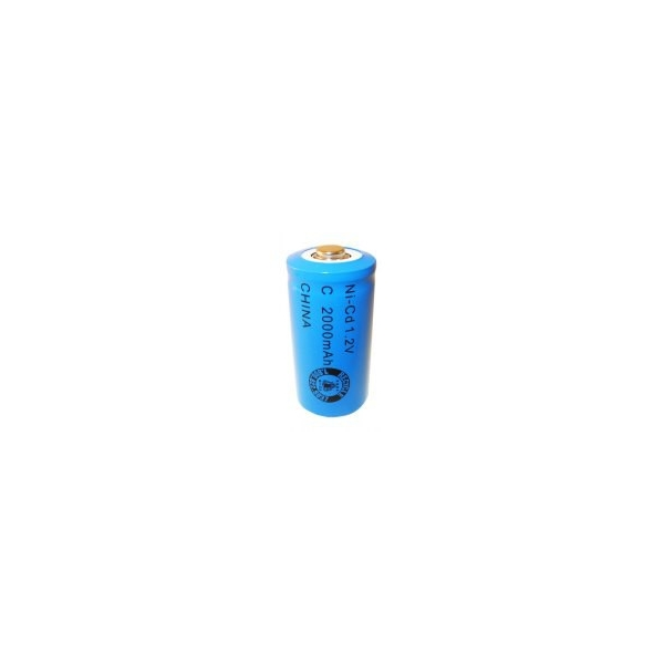 NiCD battery C 2000 mAh button top - 1,2V - Evergreen