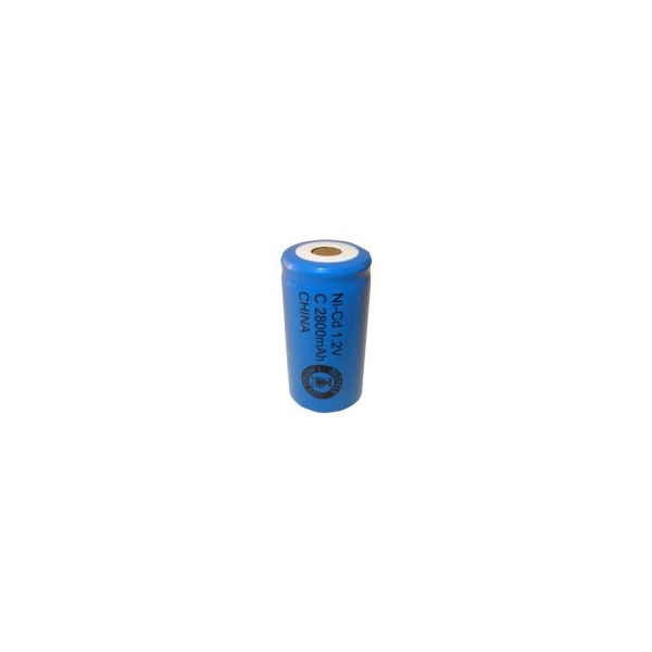 NiCD battery C 2800 mAh flat head - 1,2V - Evergreen