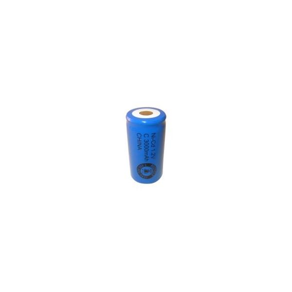 NiCD battery C 3000 mAh flat head - 1,2V - Evergreen