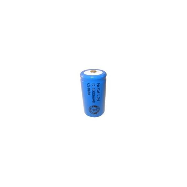 NiCD battery D 4000 mAh button top - 1,2V - Evergreen