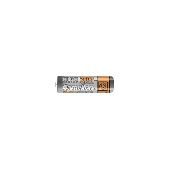 NiMH battery AA 2600 mAh button top - 1,2V