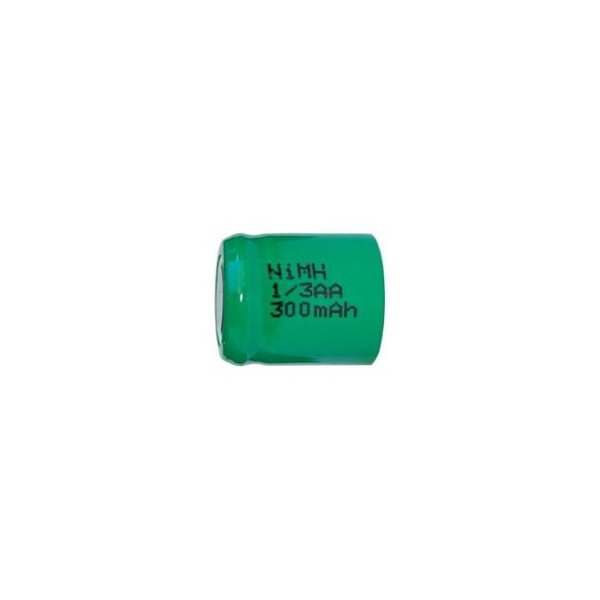 NiMH battery 1/3 AA 300 mAh flat head - 1,2V - Evergreen