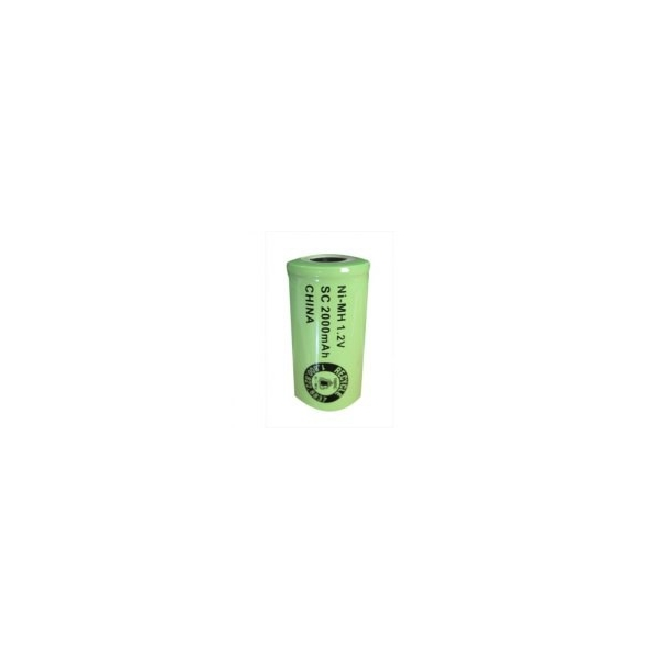 NiMH battery Sub C 2000 mAh flat head - 1,2V - Evergreen