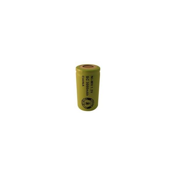 NiMH battery Sub C 3000 mAh flat head - 1,2V - Evergreen