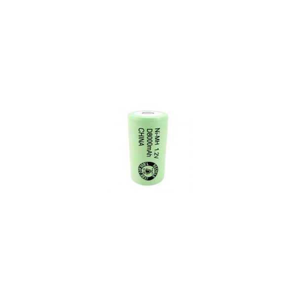 NiMH battery D 8000 mAh flat head - 1,2V - Evergreen