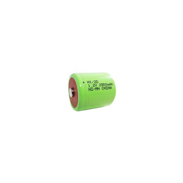 NiMH battery 1/2 D 2800 mAh button top - 1,2V - Evergreen